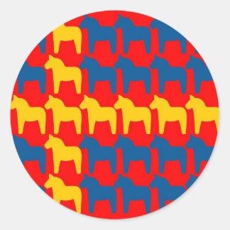 Dalaの馬の赤旗 ラウンドシール