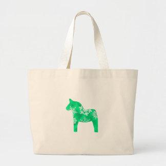 Dalaの馬の雪片 ラージトートバッグ
