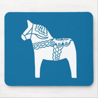 Dalaの馬の青 マウスパッド