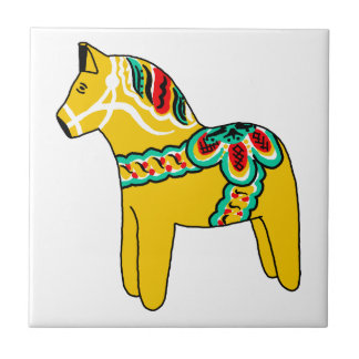 Dalaの黄色い馬 タイル