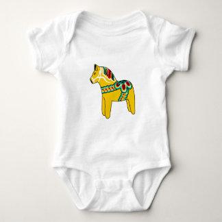 Dalaの黄色い馬 ベビーボディスーツ