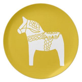 Dalaの黄色い馬 皿