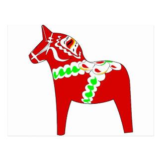 Dalarnaの赤い馬 ポストカード