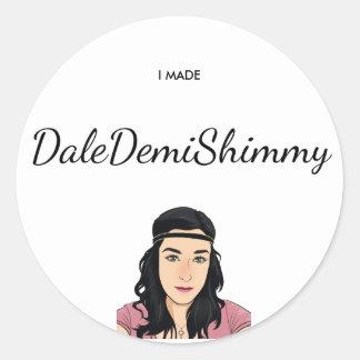 Dale Demiの異常震動のステッカー ラウンドシール