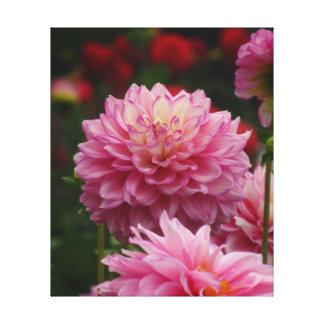 Daliaのすべてのピンクの花 キャンバスプリント