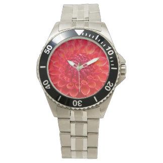 Daliaのオレンジ花 腕時計
