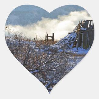 Dalles Mtの冬 ハートシール