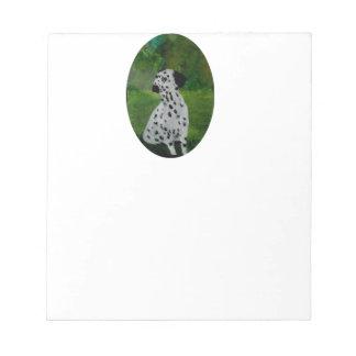 Dalmatianむらがある犬の芸術 ノートパッド