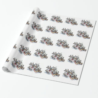 Dalmatian子犬のSledding 包み紙