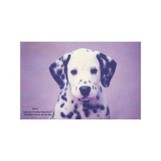 Dalmatian子犬 -- 男爵 キャンバスプリント