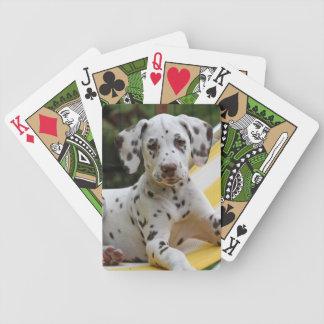 Dalmatian小犬のかわいく美しい写真、ギフト バイスクルトランプ