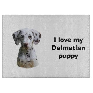 Dalmatian小犬の写真 カッティングボード