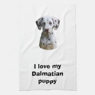 Dalmatian小犬の写真 キッチンタオル