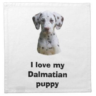 Dalmatian小犬の写真 ナプキンクロス