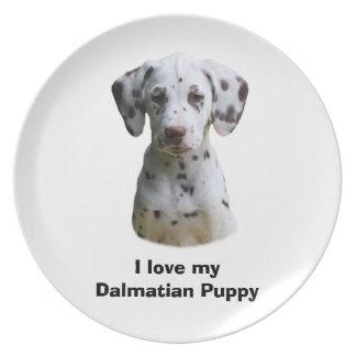 Dalmatian小犬の写真 プレート