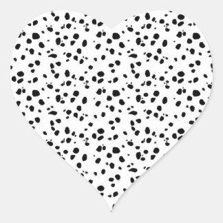 Dalmatian点、Dalmatianプリント、Dalmatian毛皮 ハートシール