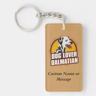 Dalmatian犬の品種恋人の名前をカスタムする キーホルダー