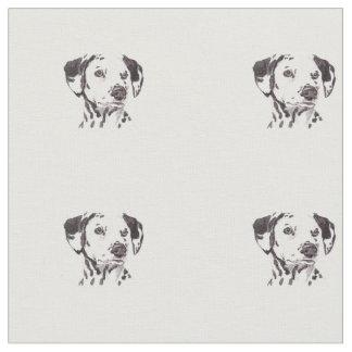 Dalmatian犬の芸術の生地 ファブリック