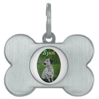 Dalmatian犬の芸術 ペットネームタグ