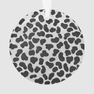 Dalmatian白黒プリント オーナメント