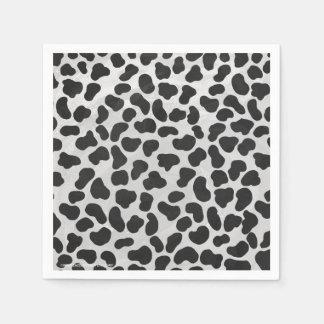 Dalmatian白黒プリント スタンダードカクテルナプキン