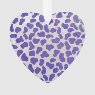 Dalmatian紫色および白写真 オーナメント