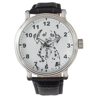"""Dalmatian""デザインの腕時計 腕時計"