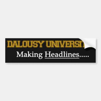 Dalousy大学-見出しを作ること バンパーステッカー