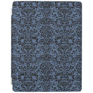 DAMASK2黒い大理石及び青いデニム(R) iPadスマートカバー