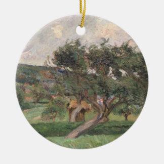 Damiette、c.1890 (キャンバスの油)の景色 陶器製丸型オーナメント