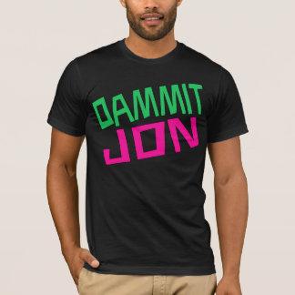 Dammit Jonのアメリカの服装の黒 Tシャツ
