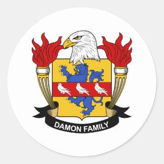 Damonの家紋 丸形シールステッカー