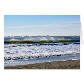 Damonポイントの波、海の海岸 カード