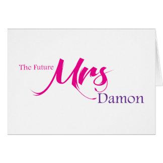 Damon未来の夫人 グリーティングカード