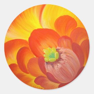 Danaのサボテンの花 丸形シール・ステッカー