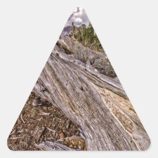 Dana草原の眺め 三角形シールステッカー