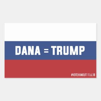 Dana =切札のロシアのな旗のステッカー 長方形シール