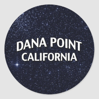 Dana Pointカリフォルニア 丸形シール・ステッカー