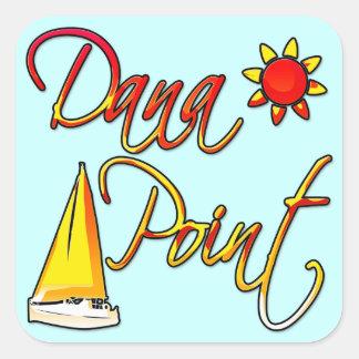 Dana Point 正方形シールステッカー