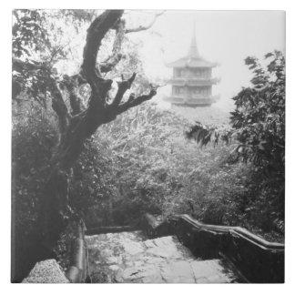 Danangベトナムの寺院の眺めの大理石山 タイル