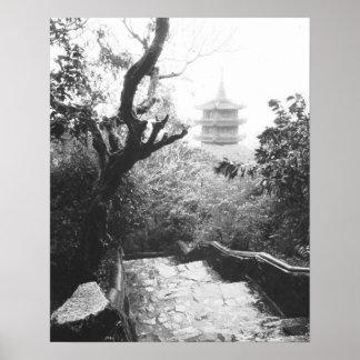 Danangベトナムの寺院の眺めの大理石山 ポスター