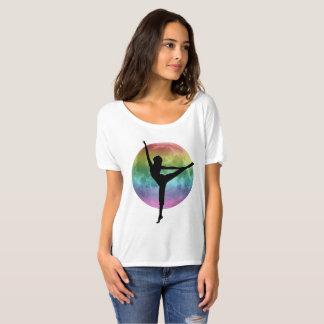 Dancer rainbow moon tee shirt tシャツ