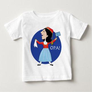 Dancingギリシャの女性 ベビーTシャツ