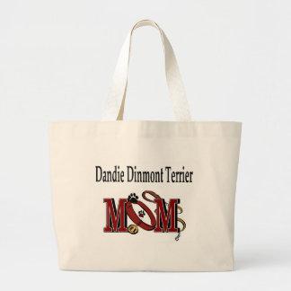 dandieのdinmontテリアのお母さんのトートバック ラージトートバッグ