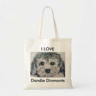 DANDIE DINMONTのかわいい子犬のバッグのミイラのパパの誕生日 トートバッグ