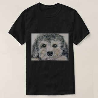 Dandie Dinmontの子犬メンズTシャツのパパの息子の誕生日 Tシャツ
