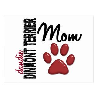 Dandie Dinmontテリアのお母さん2 ポストカード