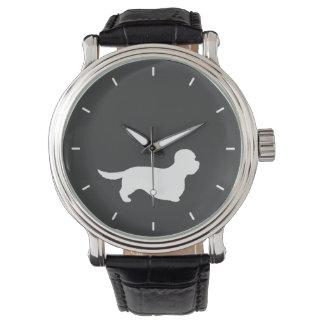 Dandie Dinmontテリアのシルエット 腕時計