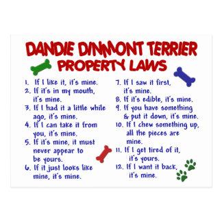 DANDIE DINMONTテリアの特性の法律2 ポストカード