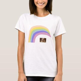 Dandie Dinmontテリアの虹のTシャツ Tシャツ